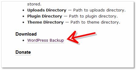 WordPress Backup (by BTE)ダウンロード