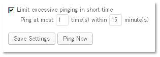 Limit excessive pinging in short time