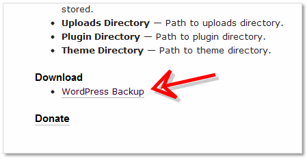 WordPress Backup (by BTE)ダウンロード